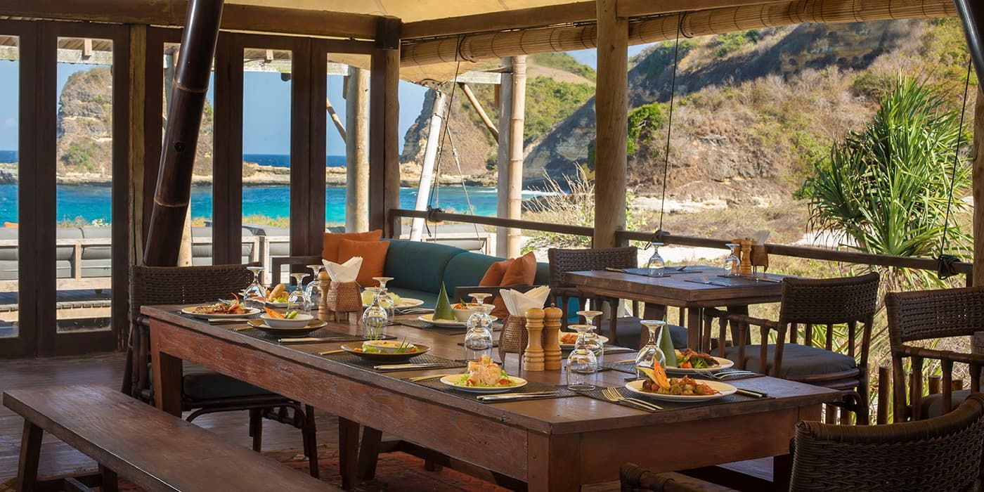 Dining at Tenda Restaurant - Jeeva Beloam Beach Camp - Luxury Glamping in Lombok, Indonesia