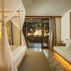 Jeeva Santai Villas - Oceanfront Terrace Suites - Luxury Beachfront Boutique Resort Hotel Villa Honeymoon Bulan Madu Lombok