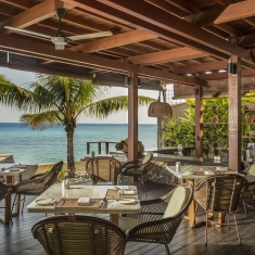 Jeeva Santai Villas - Beachfront Restaurant - Luxury boutique resort Lombok, Indonesia